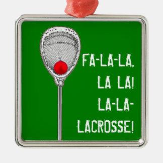 Lacrosse Goalie Metal Ornament