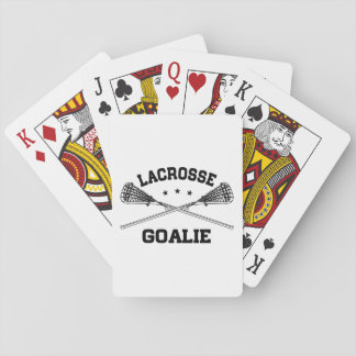 Lacrosse Goalie Playing Cards