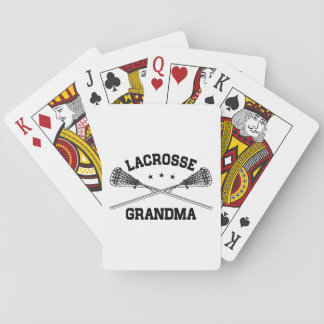 Lacrosse Grandma Playing Cards