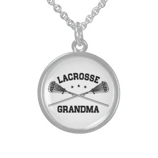Lacrosse Grandma Sterling Silver Necklace