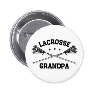 Lacrosse Grandpa 6 Cm Round Badge