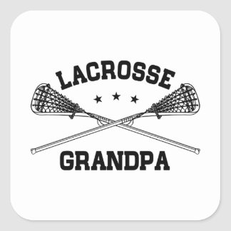 Lacrosse Grandpa Square Sticker