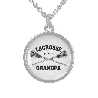 Lacrosse Grandpa Sterling Silver Necklace