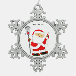 Lacrosse Holidays Snowflake Pewter Christmas Ornament