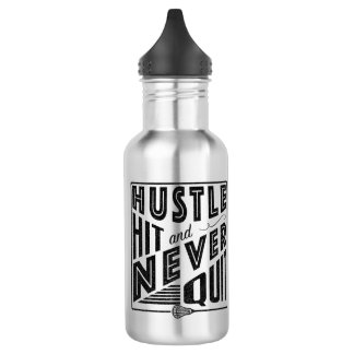 Lacrosse Hustle Hit & Never Quit 532 Ml Water Bottle