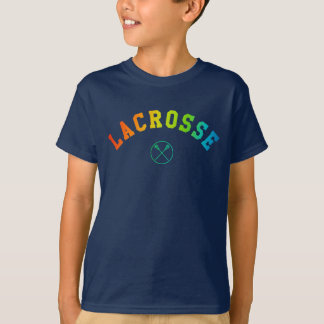 Lacrosse kid's shirt - colorful curved text