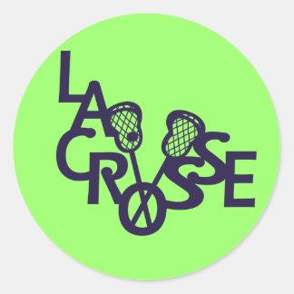 Lacrosse Letters Round Sticker