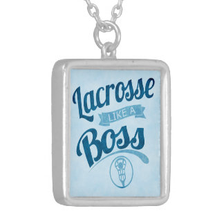 lacrosse Like A Boss Silver Plated Necklace