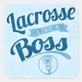 lacrosse Like A Boss Square Sticker
