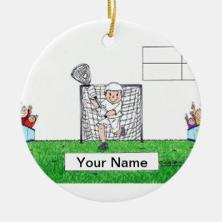 Lacrosse, Male - Blank Ceramic Ornament