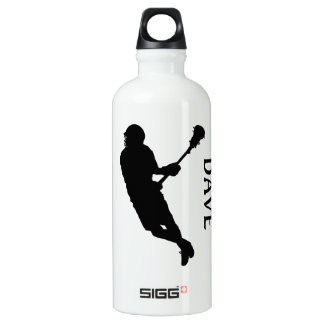 Lacrosse Male Player in Silhouette Liam SIGG Traveller 0.6L Water Bottle