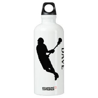 Lacrosse Male Player in Silhouette Liam Water Bottle