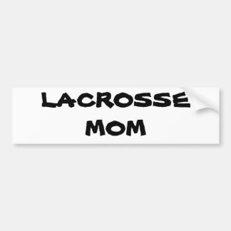 LACROSSE MOM BUMPER STICKER