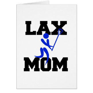 Lacrosse Mom in Blue Card