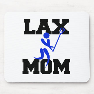 Lacrosse Mom in Blue Mouse Pad