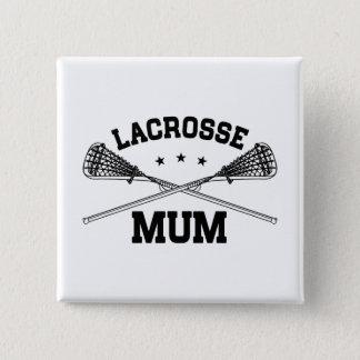 Lacrosse Mum 15 Cm Square Badge