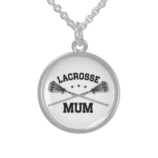 Lacrosse Mum Sterling Silver Necklace