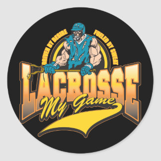 Lacrosse My Game Round Sticker