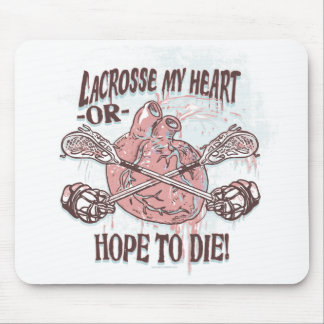 Lacrosse My Heart Lax Gear Mouse Pads