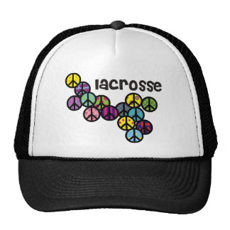 Lacrosse Peace Signs Filled Mesh Hats