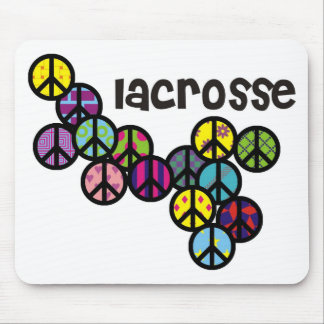 Lacrosse Peace Signs Filled Mouse Pads