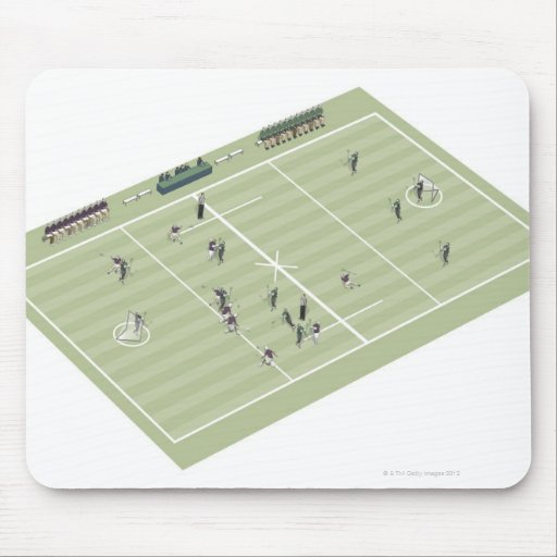 Lacrosse pitch and positions mouse pad