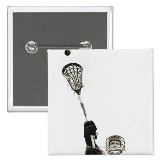 Lacrosse Player 3 15 Cm Square Badge