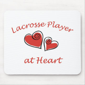 Lacrosse Player at Heart Mousepads