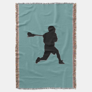 Lacrosse Player Blanket