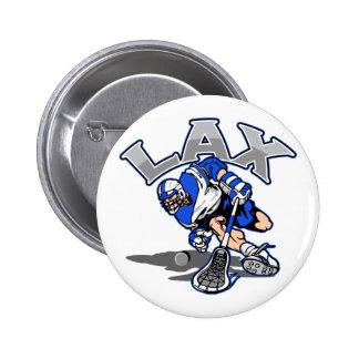 Lacrosse Player Blue Uniform 6 Cm Round Badge