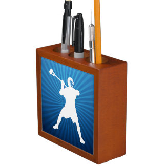 Lacrosse Player Desk Organizer