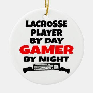 Lacrosse Player Gamer Ceramic Ornament