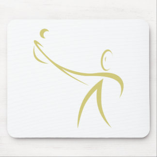 Lacrosse Player Icon Mousepads