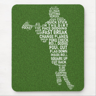 Lacrosse Player Typography Mousepad