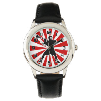 Lacrosse Player wrist watch