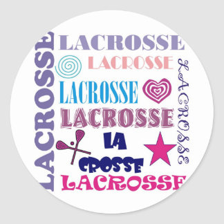 Lacrosse Repeating Classic Round Sticker
