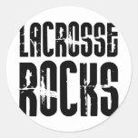 Lacrosse Rocks Classic Round Sticker