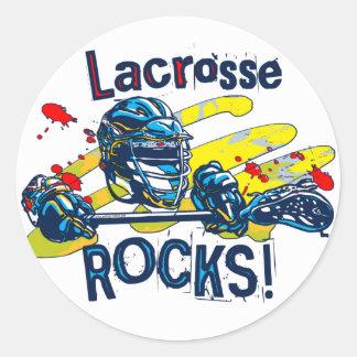 Lacrosse Rocks  LaX Gear Round Sticker