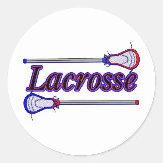 Lacrosse Round Sticker