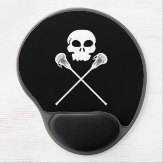 Lacrosse Skull Crossed Sticks Gel Mouse Pad