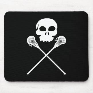 Lacrosse Skull Crossed Sticks Mouse Pad