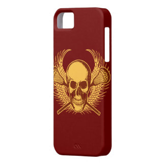 Lacrosse Skull iphone 5 case - Red