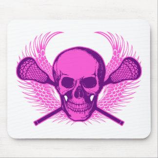 Lacrosse Skull - Purple Mouse Pad