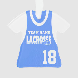 Lacrosse Sports Jersey with Photo Ornament