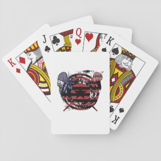 Lacrosse Stick American Flag Gifts Playing Cards