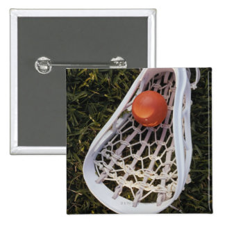 Lacrosse Stick and Ball 15 Cm Square Badge