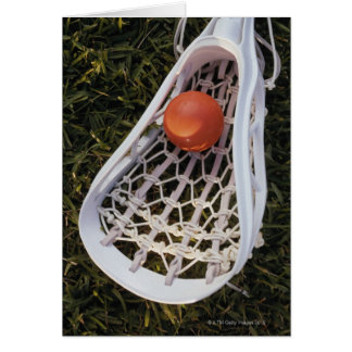 Lacrosse Stick and Ball Card