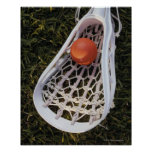 Lacrosse Stick and Ball Print
