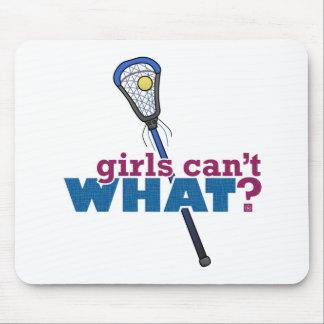 Lacrosse Stick Blue Mouse Pad