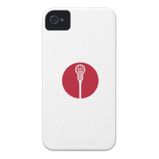 Lacrosse Stick Circle Icon iPhone 4 Cases